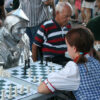Dorothy And Tin Man Play Chess