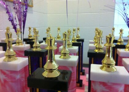 Trophies 2014 Girls Chess Tournament