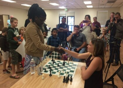 Ava Playing Chess with Queen of Katwe Santa Rosa